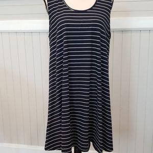 Vibe navy and white stripe tank dress